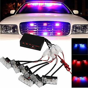 Red Blue 18 Led Car Dash Strobe Light Flash Emergency Police Warning Safety Lamp