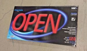 Led Neon Open Sign 30 Superbright Flashes And Scrolls Energy Efficient Premier