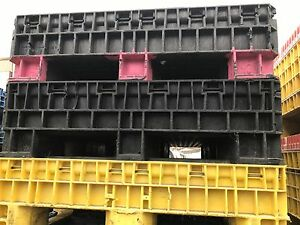Collapsible Plastic Baskets crate 56x48x36 2 Door lot Of 7 shop
