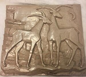 Extremely Fine Art Deco Terra Cotta Panel By G Warren Dated 1948