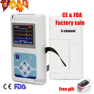 2018 24hrs Software 3 channel Ecg Ekg Holter System Recorder Contec Ce Top Sell