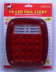 Led Universal Fit Stud Mount Combination Tail Light Truck Trailer Boat License