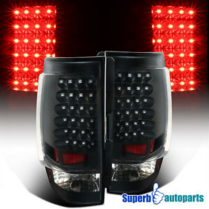 For 2007 2014 Chevy Tahoe Suburban Replacement Black Led Tail Lights Brake Lamps
