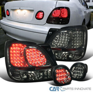 For Lexus 98 05 Gs300 Gs400 Gs430 Smoke Tinted Rear Led Tail Lights trunk Lamps