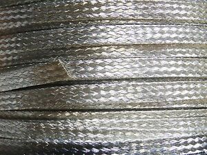 100 Ft Flat Braided Tinned Copper Wire 1 4 Wide Ground Strap Usa