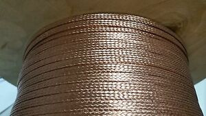 1000 Ft Flat Braided Bare Pure Copper Wire 1 4 Wide Ground Strap Usa