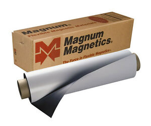 24 X 50 Roll Magnum Magnetics 30 Mil Blank White Sheet Car Vehicle Magnets
