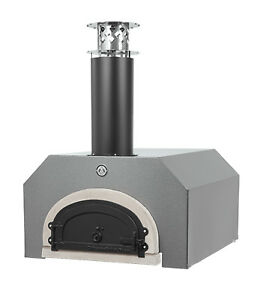 Chicago Brick Oven Counter Top Wood Burning Pizza Oven Silver