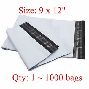 9 X 12 Poly Mailer Shipping Bags 2 35 Mil 25 50 200 100 300 500 800 1000