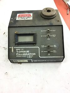 Used Chicago Pneumatic Model 221 Torque Calibrator Fast Shipping B336
