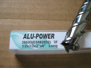 1 2 x2 Locx 4 Oal alu power 3 Flute Carbide End Mill Yg 1 Brand new
