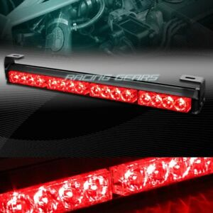 18 Led Red Traffic Advisor Emergency Warning Flash Strobe Light Bar Universal
