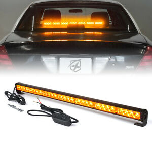 31 Emergency Traffic Advisor Hazard Flash Strobe Led Light Lamp Bar White