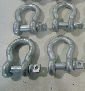 4 7 8 Rcp Chain Safety Clevis Shackles With Screw Pin Wll 6 1 2 Ton Shackle 1
