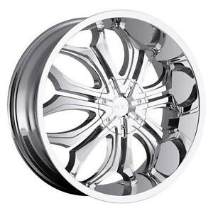 26 Inch 26x10 Vct Godfather Chrome Wheel Rim 5x5 5x127 15