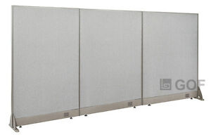 Gof Office Freestanding Partition 90 w X 48 h Office Divider