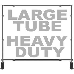 8x10 Large Tube Step Repeat Banner Stand Telescopic Backdrop 1 5 Dia Heavy Duty