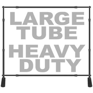 8x10 Large Tube Step Repeat Banner Stand Adjustable Backdrop 1 5 Dia Heavy Duty