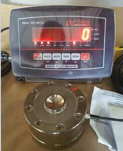 Compression Scale Set 100 000x 5 Lb 100k Load Cell indicator Peak Hold new