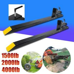 1500lb 2000lb 4000lb Clamp On Pallet Forks Loader Bucket Skidsteer Tractor Chain