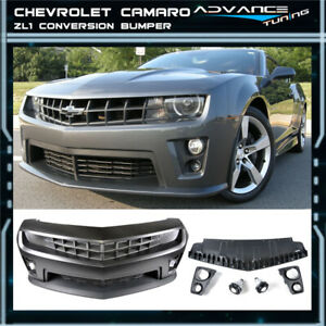 For 10 13 Chevy Camaro Zl1 Front Bumper Cover 8pcs Pp Grille Diffuser