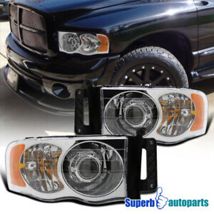 For 2002 2005 Dodge Ram 1500 Ram 2003 2005 2500 3500 Projector Headlights
