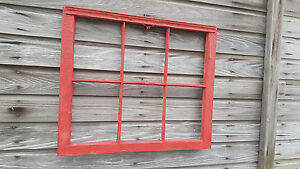 Vintage Sash Antique Wood Window Picture Frame Pinterest Wedding Painted Red