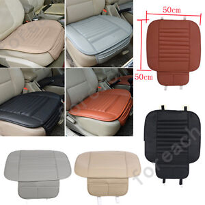 Pu Leather Bamboo Car Seat Breathable Cover Pad Mat Auto Chair Cushion Universal