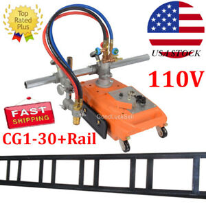 New Torch Track Burner Cg1 30 Gas Cutting Machine Cutter With Rail Track Us Fast