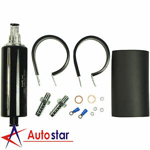 Black Hi Performance Fuel Pump 270lph Inline For Nissan 240sx 300zx Sr20det 350z