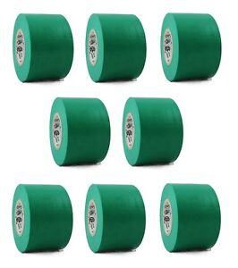 8 Rolls Green Vinyl Pvc Electrical Tape 2 X 66 Flame Retardant Free Shipping