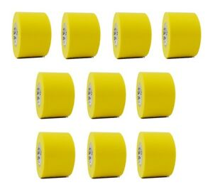 10 Rolls Yellow Vinyl Pvc Electrical Tape 2 X 66 Flame Retardant Free Shipping