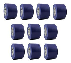 10 Rolls Blue Vinyl Pvc Electrical Tape 2 X 66 Flame Retardant Free Shipping