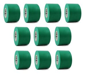 10 Rolls Green Vinyl Pvc Electrical Tape 2 X 66 Flame Retardant Free Shipping