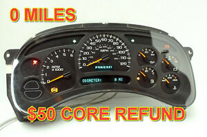 03 04 Chevrolet Silverado Gmc Yukon Instrument Panel Cluster 0 Mi 50 Money Back