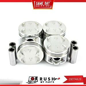 Dnj P290 Standard Size Compl Piston Set For 88 95 Honda Civic 1 5l Sohc 8v 16v