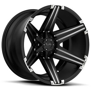 20 Inch 20x10 Tuff T12 Black Milled Wheel Rim 6x5 5 6x139 7 19