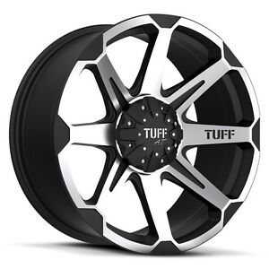 24 Inch 24x9 5 Tuff T05 Flat Black Machined Wheel Rim 8x6 5 8x165 1 15