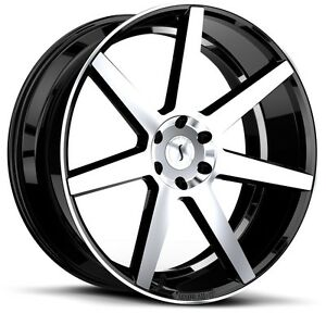 26 Inch 26x10 Status S838 Gloss Black Machined Wheel Rim 5x120 15