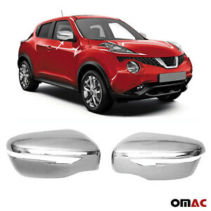 Fits Nissan Juke 2015 2017 Chrome Side Mirror Cover Cap 2 Pcs