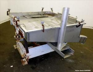 Used Witte Screener 304 Stainless Steel Top Tray 51 Long X 48 Wide 2 Scre