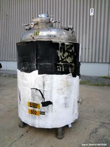 Used Watson Metal Masters Reactor 600 Gallon 316l Stainless Steel Vertical