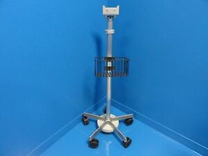 Gcx Polymount Corp Patient Monitor Stand W Utility Basket 11743