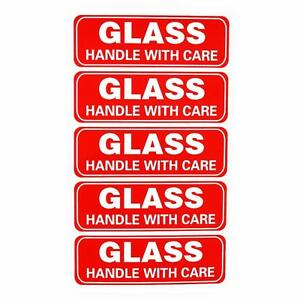 Glass Handle With Care Sticker Fragile Labels Printable Fragile Packing Sticker