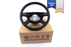 New Euro Vw Passat B6 4 Spoke Black Leather Steering Wheel With Multi Function