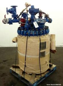 Used Pfaudler Clamp Top Glass Lined Reactor 100 Gallon 5015 Blue Glass Verti