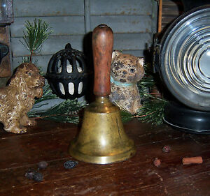 Primitive Antique Vtg Brass School House Teachers Service Desk Bell Gift Idea