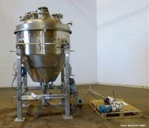 Used Feldmeier Reactor 250 Gallon Hastelloy C 276 Vertical 44 Diameter X 2