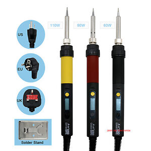 A bf Lcd Digital Display Soldering Iron Gun Us Eu Uk Plug Temperature Adjustable