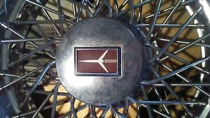 1980s Oldsmobile Wire Basket 14 Hubcaps Set Of 4